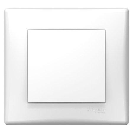 Křížový vypínač bílá s rámečkem Sedna SDN0500221 Schneider Electric