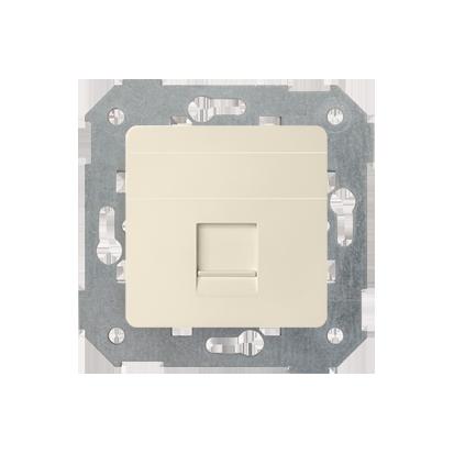 Kryt zásuvky RJ45 1 zásuvka s adaptérem a žaluzii, béžová Kontakt Simon 82 82005-31