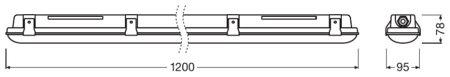 Lineární LED svítidlo 1200 39W 4000K IP65 DAMPPROOF LEDVANCE