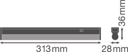 Lineární svítidlo LINEAR COMPACT SWITCH 300 4W 4000K LEDVANCE