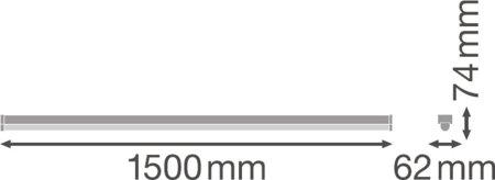 Lineární svítidlo LINEAR ULTRA OUTPUT 1500 60W 4000K LEDVANCE