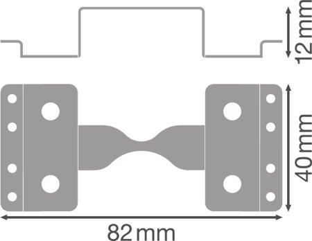 Mechanické konektory pro instalaci světelné linie svítidel LINEAR IndiviLED LIGHT LINE CONNECTOR LEDVANCE