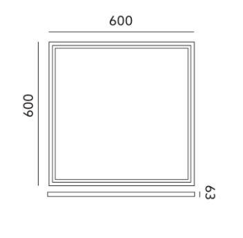 Montážní rám pro LED panely Capri i LED Nelio 60X60 KLIK