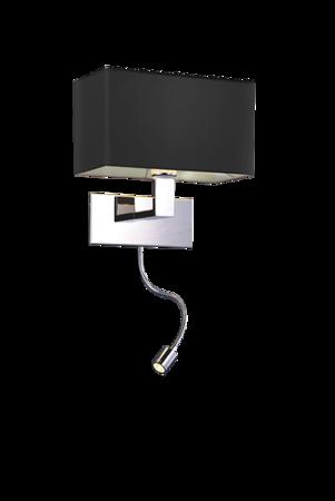 Nástěnná lampa s ramenem Martens černá Azzardo MB2251-B-LED-R BK