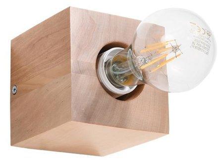 Nástěnné svítidlo ABEL přírodní dřevo E27 SL.0676 Sollux