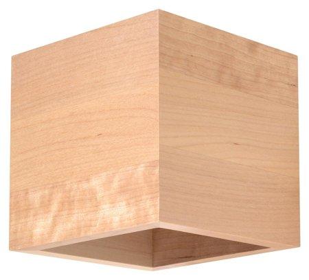 Nástěnné svítidlo QUAD přírodní dřevo 1xG9 Sollux SL.0491
