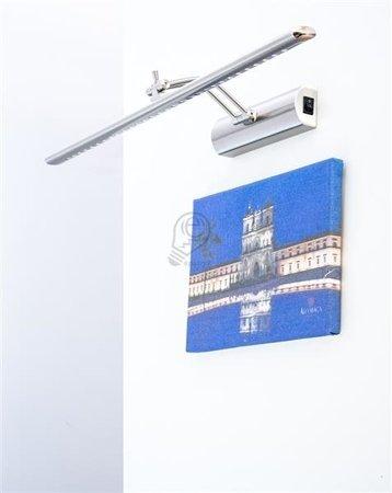 Obrazová lampa, nad zrdcadlo Brena, nerezová ocel 55cm
