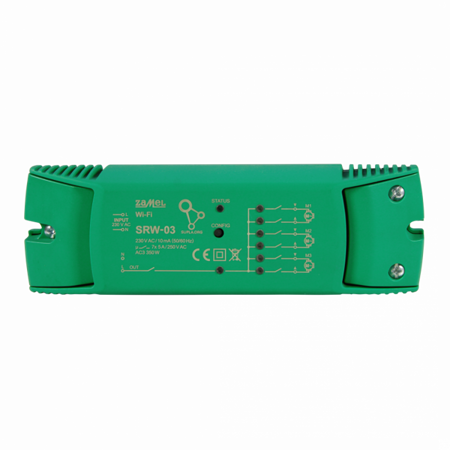 Ovladač žaluzií Wi-Fi 3 žaluzie + 1 kanál Supla Zamel SRW-03