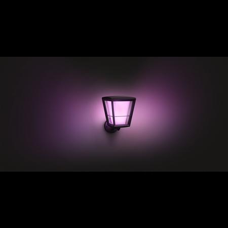 Philips Hue malá nástěnná lampa vnější černá Econic 11W 1743930P7