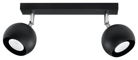 Plafon OCULARE 2xGU10 černá Sollux SL.0444