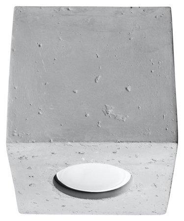 Plafon QUAD Beton 1xGU10 Sollux SL.0489