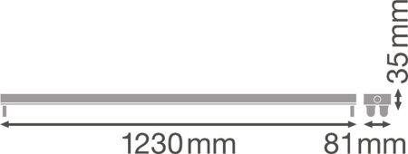 Plášť pro LED trubice 2x1200 T8 G13 LINEAR HOUSING LEDVANCE