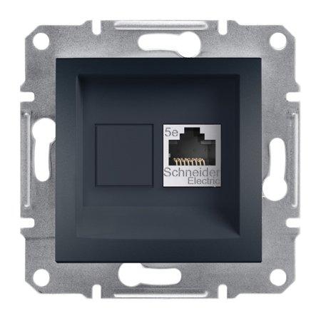 Počítačová zásuvka kat.5e STP bez rámečku, antracit Schneider Electric Asfora EPH5000171