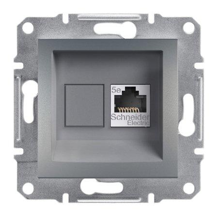 Počítačová zásuvka kat.5e STP bez rámečku, ocel Schneider Electric Asfora EPH5000162