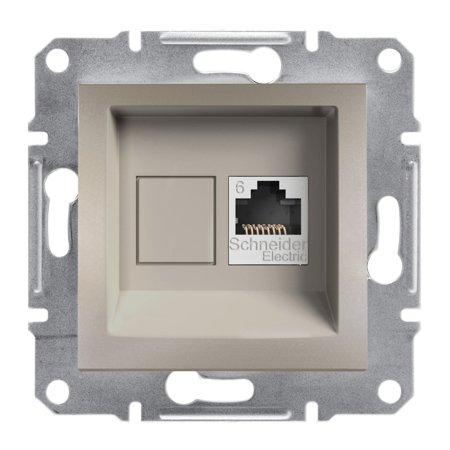Počítačová zásuvka kat.6 UTP bez rámečku, hnědá Schneider Electric Asfora EPH4700169