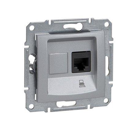 Počítačová zásuvka kategorie 6 hliník Sedna SDN4700160 Schneider Electric