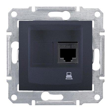 Počítačová zásuvka kategorie 6 stíněná, grafitová Sedna SDN4900170 Schneider Electric