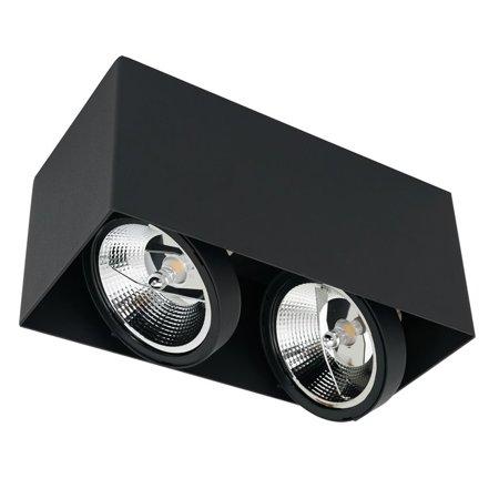 Povrchové svítidlo PLAZA 2xGU10 AR111 Černé ML4746 Milagro
