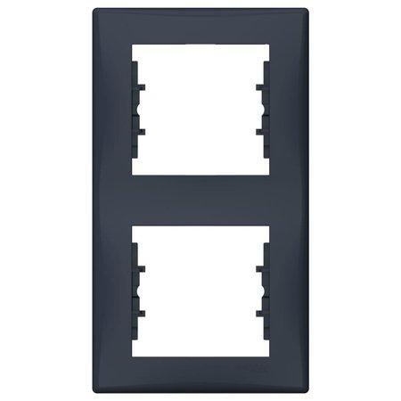 Rámeček 2-násobný svislý, grafitová Sedna SDN5801170 Schneider Electric