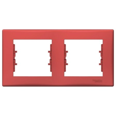 Rámeček 2-násobný vodorovný červená Sedna SDN5800341 Schneider Electric