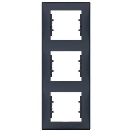 Rámeček 3-násobný svislý, grafitová Sedna SDN5801370 Schneider Electric