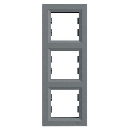 Rámeček 3-násobný svislý, ocel Schneider Electric Asfora EPH5810362