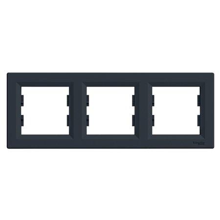 Rámeček 3-násobný vodorovný, antracit Schneider Electric Asfora EPH5800371