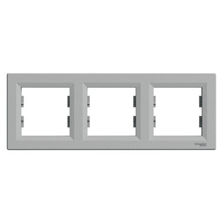 Rámeček 3-násobný vodorovný, hliník Schneider Electric Asfora EPH5800361