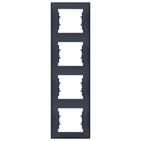 Rámeček 4-násobný svislý, grafitová Sedna SDN5802070 Schneider Electric