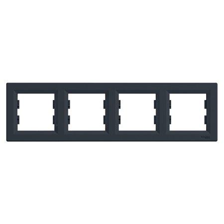 Rámeček 4-násobný vodorovný, antracit Schneider Electric Asfora EPH5800471