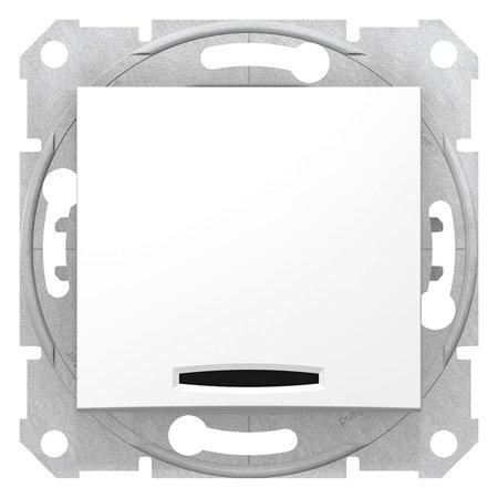 Schodišťové tlačítko s podsvícením bílá Sedna SDN1520121 Schneider Electric