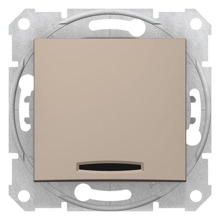 Schodišťový vypínač s podsvícením 16A saténová Sedna SDN1500268 Schneider Electric