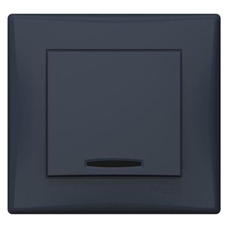 Schodišťový vypínač s podsvícením grafitová s rámečkem Sedna SDN1590170 Schneider Electric