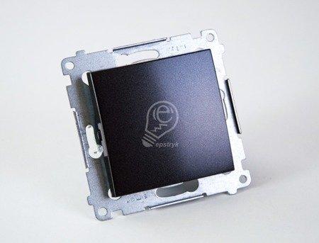 Simon 54 Premium Antracit Vypínač jednonásobný (modul) rychlospojka, DW1.01/48