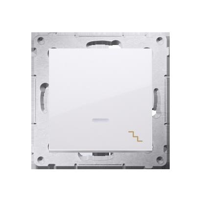 Simon 54 Premium Bílý Vypínač schodišťový s podsvícením LED (modul) rychlospojka, DW6L.01/11