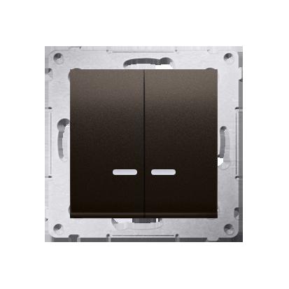 Simon 54 Premium Hnědá, matný Přepínač sériový s podsvícením LED, pro verzi IP44 DW5ABL.01/46
