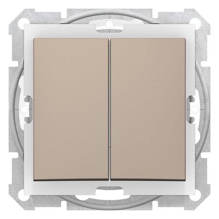Spínač sériový IP44 saténová Sedna SDN0300468 Schneider Electric