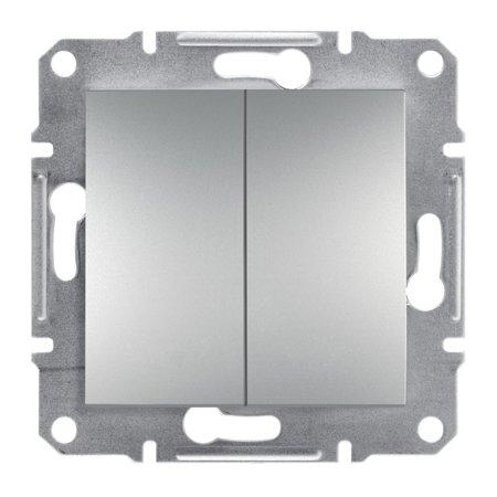 Spínač sériový bez rámečku, hliník Schneider Electric Asfora EPH0300161