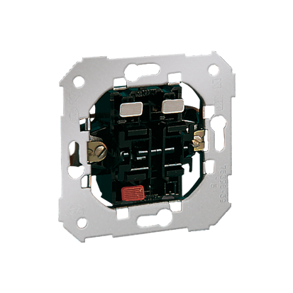 Spínač zkratovací- Tlačítko dvojnásobný (2 výstupy, 2 výstupy) Kontakt Simon 82 75396-39