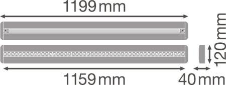 Stmívatelné svítidlo s čidlem pohybu a denního světla LINEAR IndiviLED DIRECT/INDIRECT DALI SENSOR 1200 42W 4000K LEDVANCE