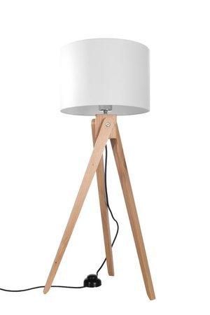 Stojací lampa LEGNO 1xE27 bílá Dřevo Sollux SL.0523