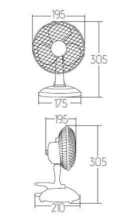 Stolní ventilátor Veneto 15GR šedé 14952 Kanlux