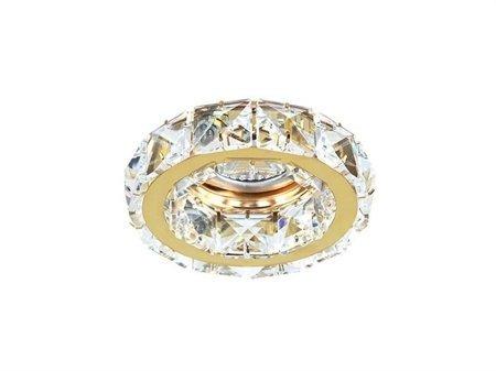Stropní vestavné svítidlo Ester 1 zlatá Azzardo DM1000-1-G