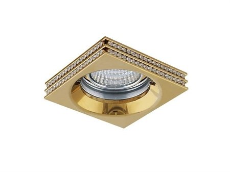 Stropní vestavné svítidlo Eva S zlatá Azzardo NC1519SQ-G
