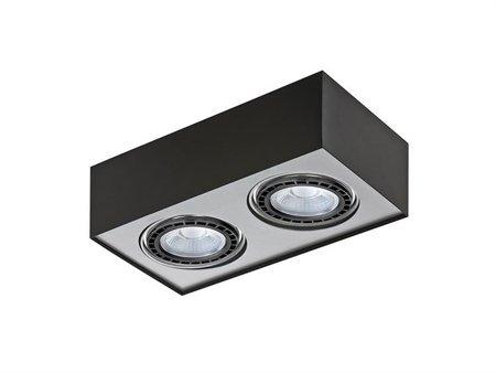 Svítidlo stropní Paulo 2 230V LED 15W stmívatelné černá hliník Azzardo GM4203
