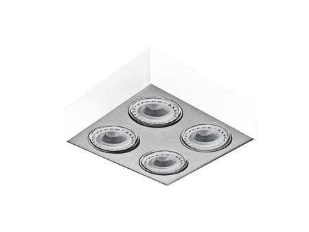 Svítidlo stropní Paulo 4 230V LED 15W stmívatelné bílé  hliník Azzardo GM4400