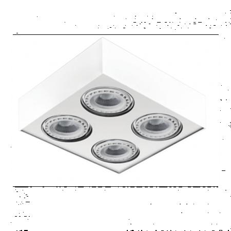 Svítidlo stropní Paulo 4 230V LED 7W bílá Azzardo GM4400