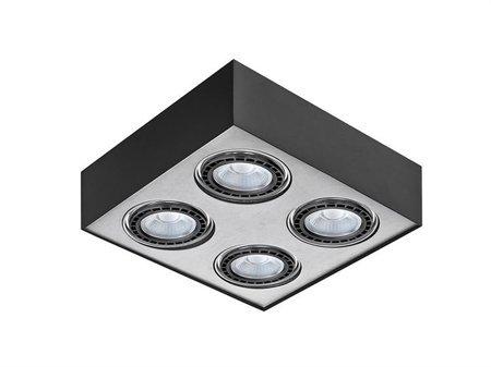 Svítidlo stropní Paulo 4 230V LED 7W černé hliník Azzardo GM4400