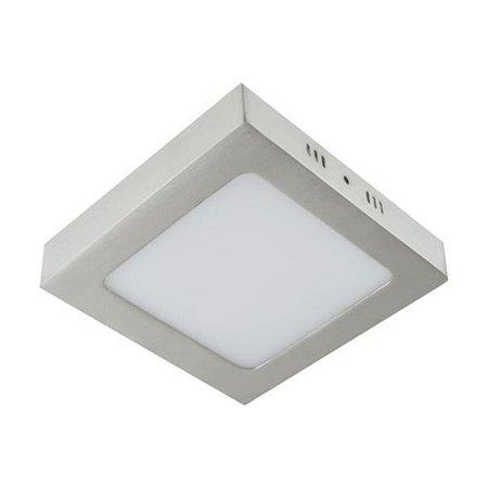 Svítidlo stropní, plafon MARTIN LED D, hranatá, 12W, 4000K, matný chrom, 3277, Struhm