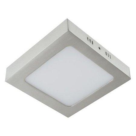 Svítidlo stropní, plafon MARTIN LED D, hranatá, 24W, 4000K, matný chrom, 3279, Struhm